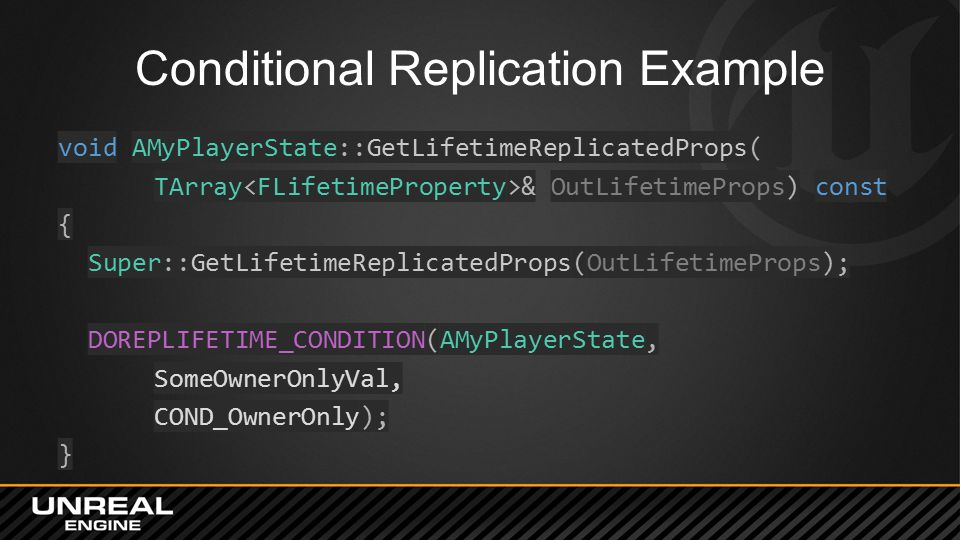 Conditional Replication Example