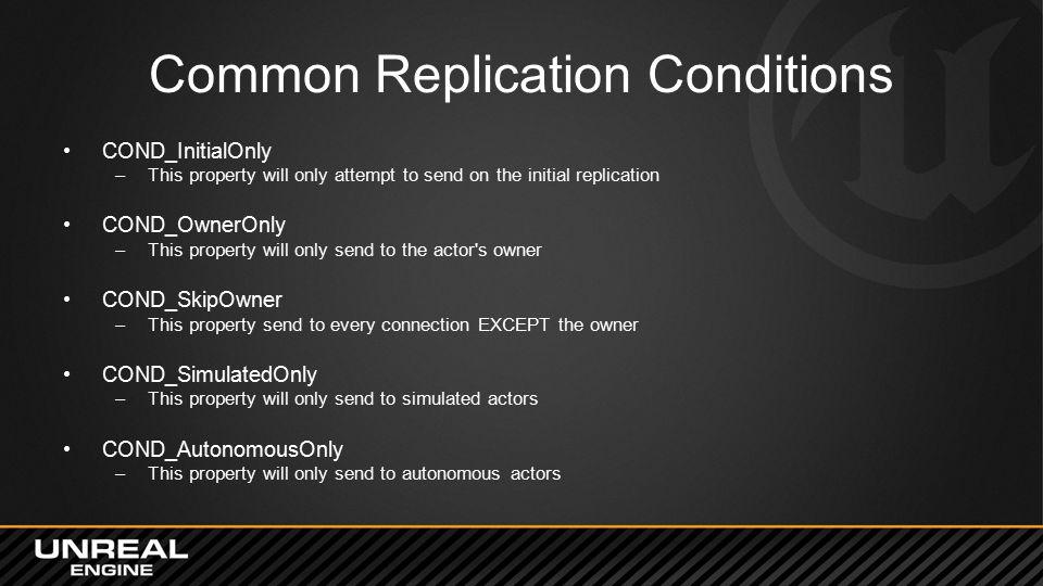 Common Replication Conditions