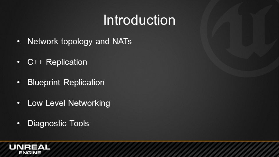 Introduction Network topology and NATs C++ Replication