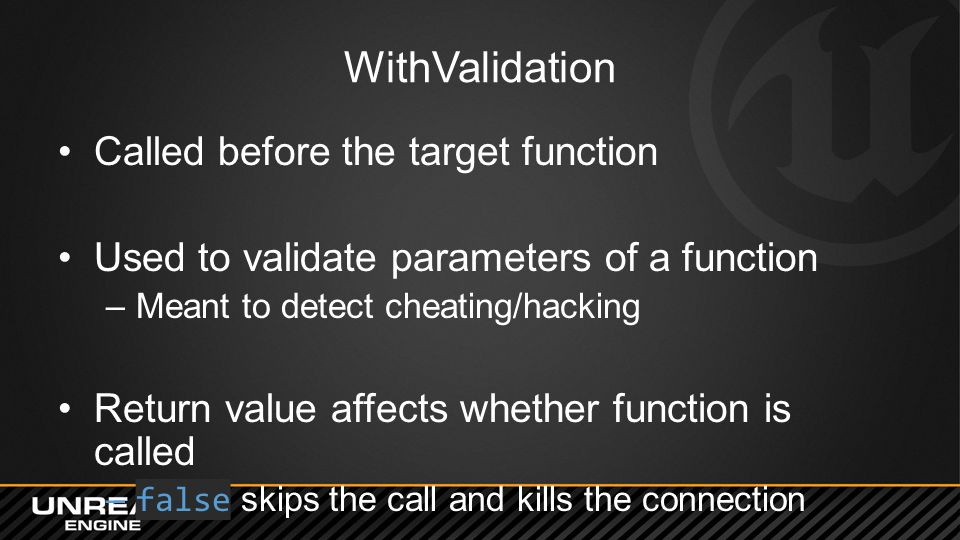 WithValidation Called before the target function