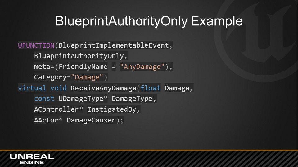 BlueprintAuthorityOnly Example