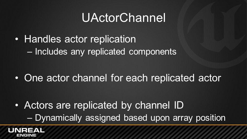 UActorChannel Handles actor replication