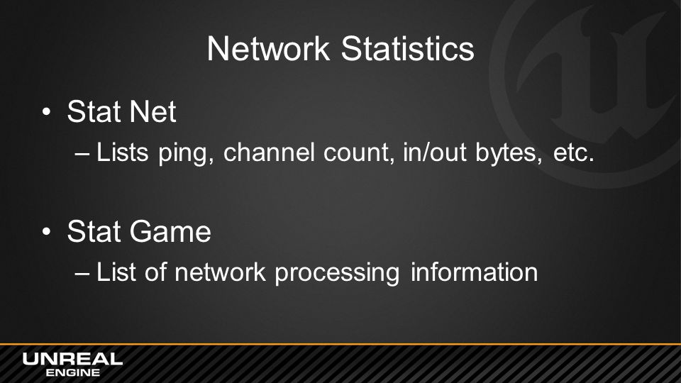 Network Statistics Stat Net Stat Game