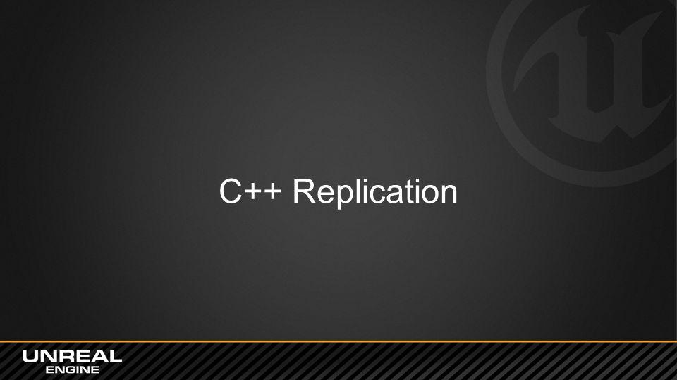 C++ Replication