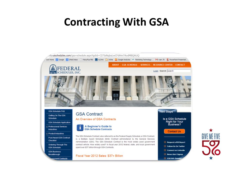 Contracting With GSA 5