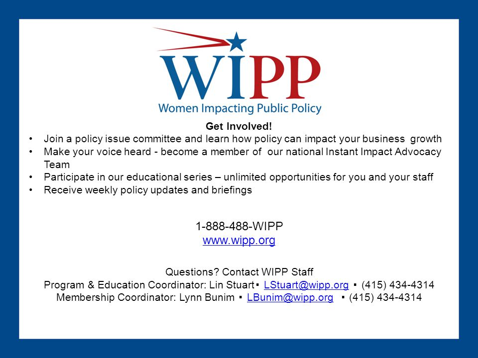 1-888-488-WIPP www.wipp.org Get Involved!