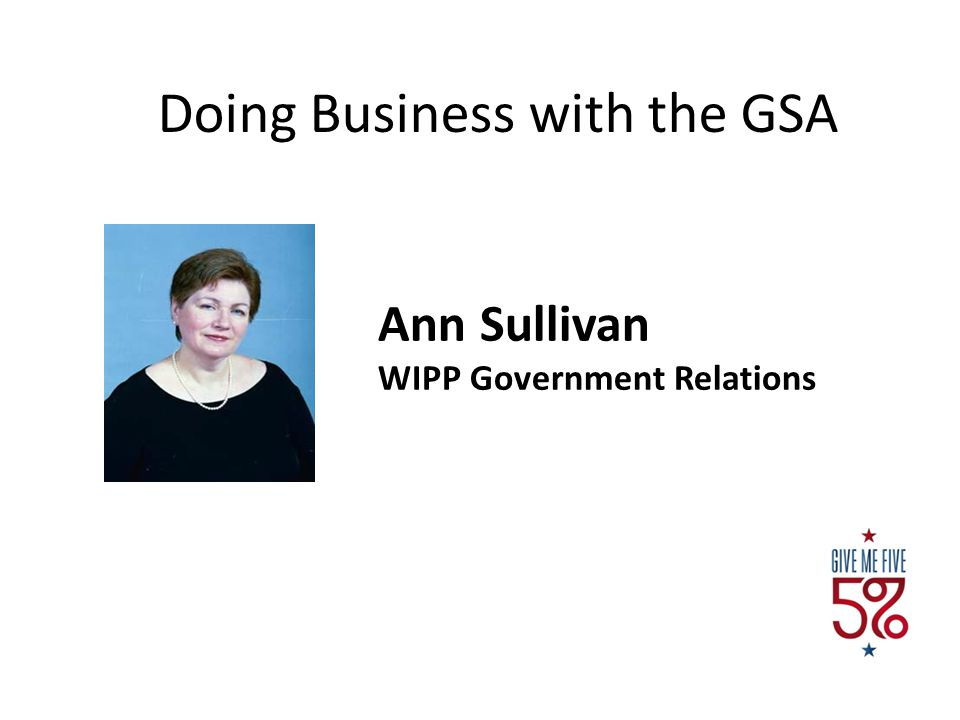 Doing Business with the GSA