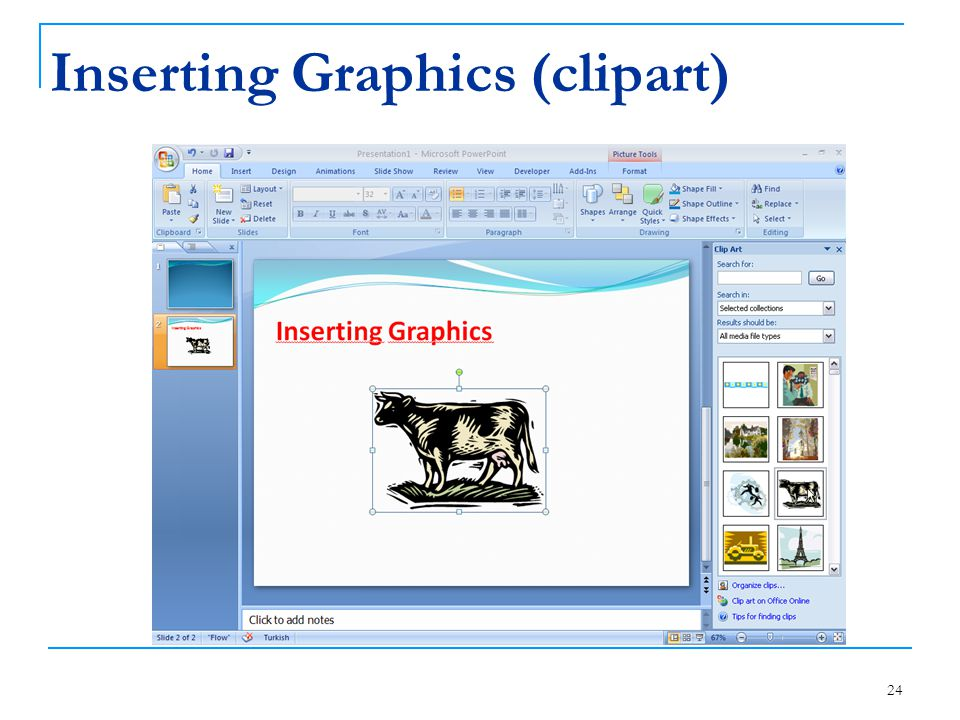 Inserting Graphics (clipart)