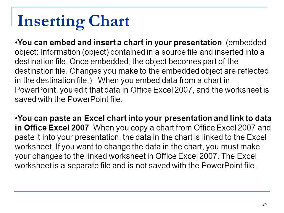 Inserting Chart