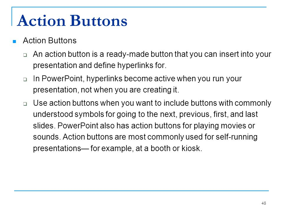 Action Buttons Action Buttons
