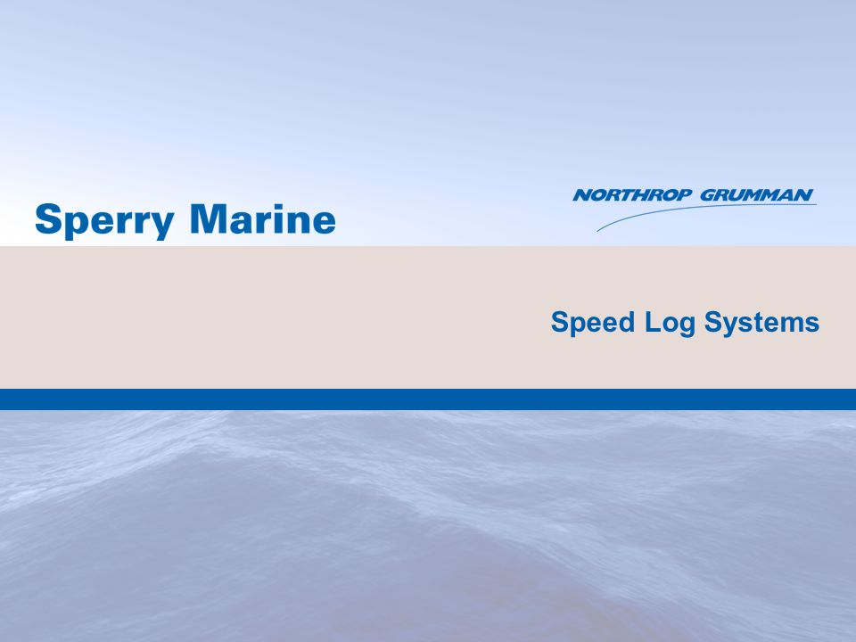 Speed Log Systems