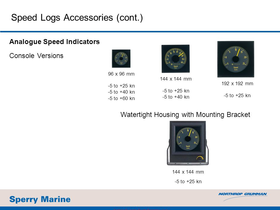 Speed Logs Accessories (cont.)