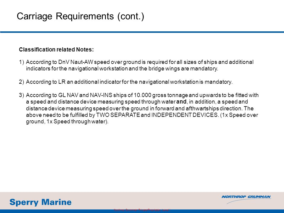 Carriage Requirements (cont.)
