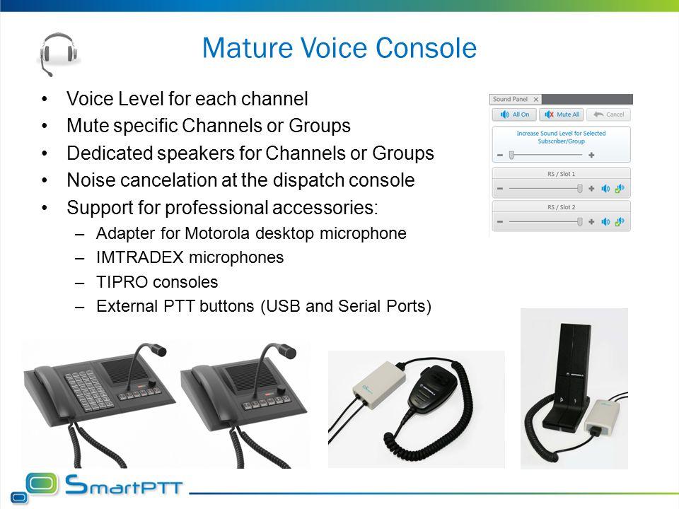 Mature Voice Console Voice Level for each channel