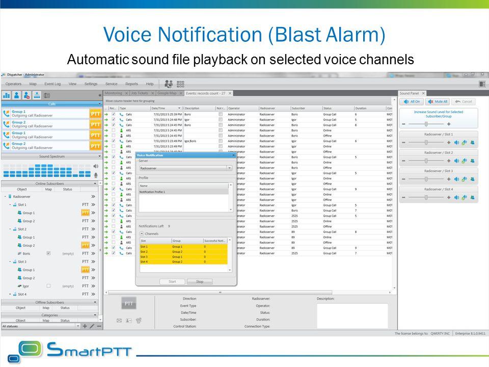 Voice Notification (Blast Alarm)