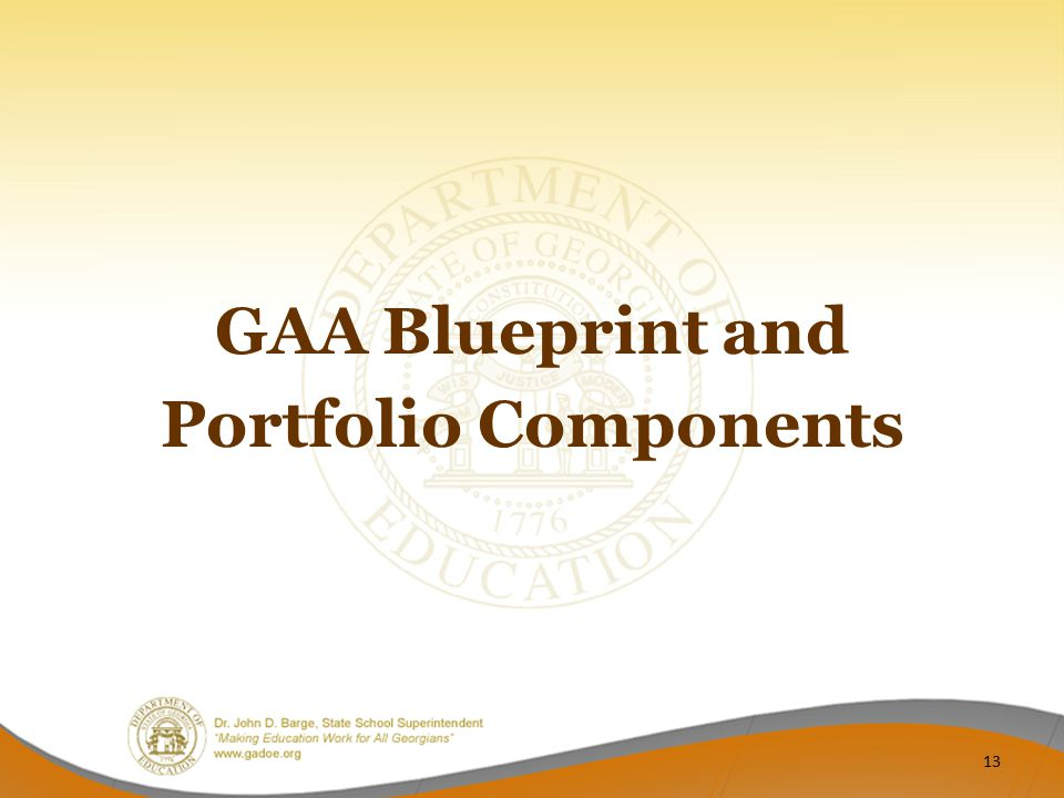 GAA Blueprint and Portfolio Components