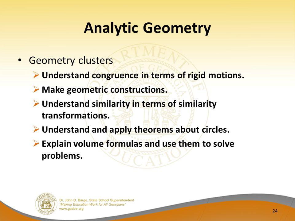 Analytic Geometry Geometry clusters