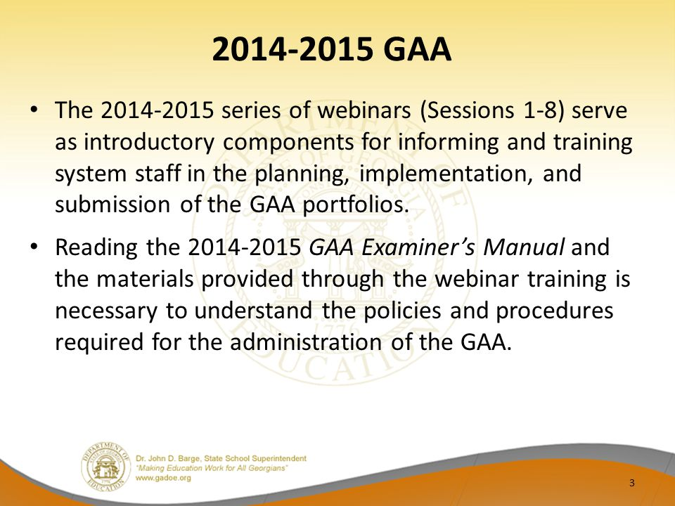 2014-2015 GAA