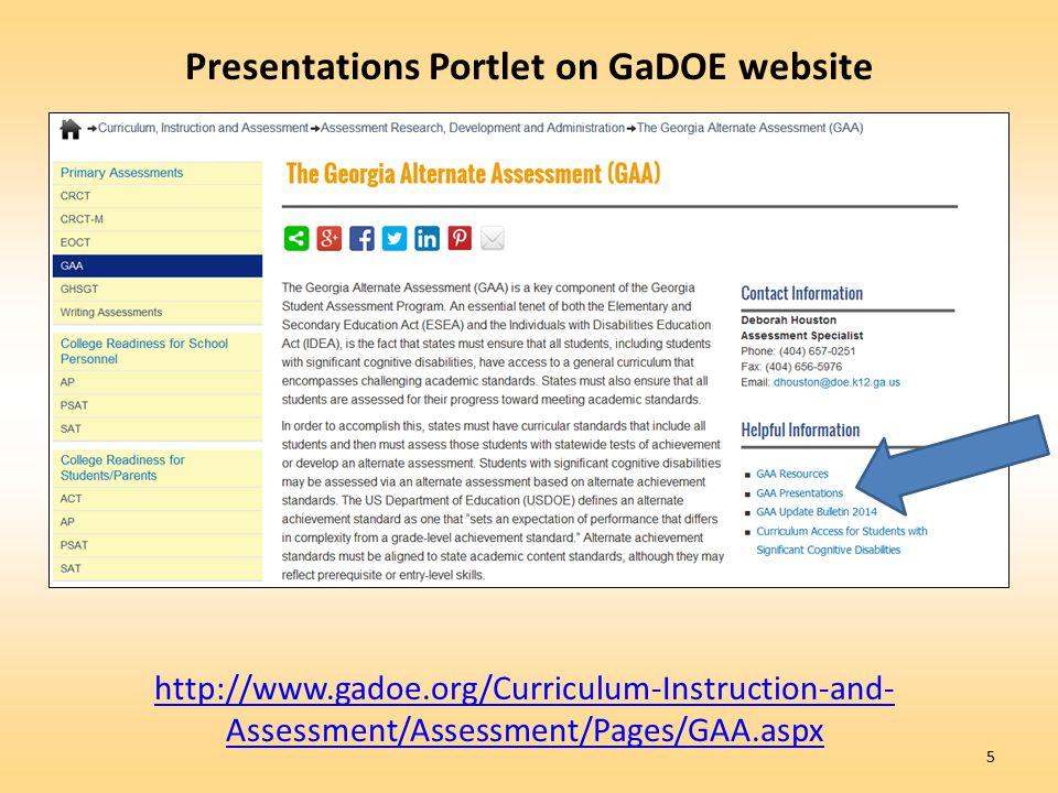 Presentations Portlet on GaDOE website