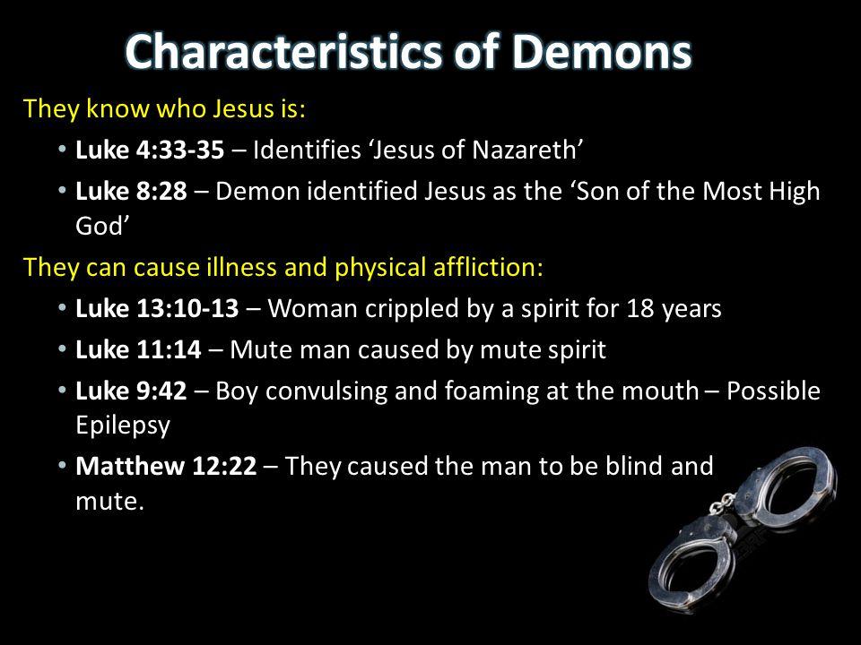 Characteristics of Demons
