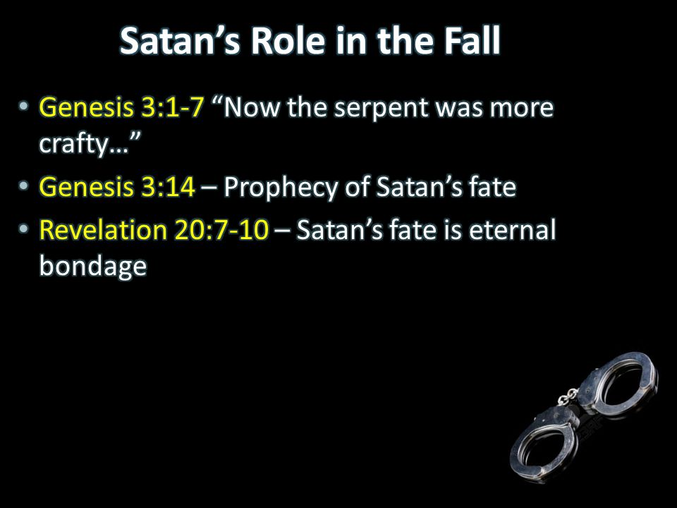 Satan's Role in the Fall