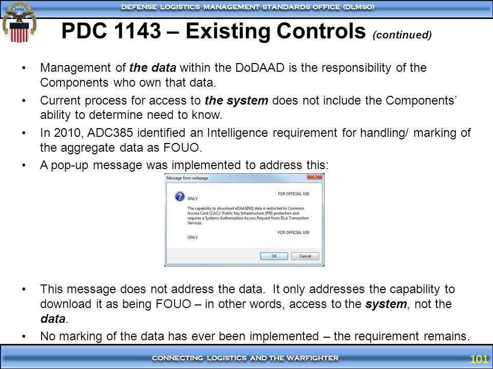 PDC 1143 – Existing Controls (continued)