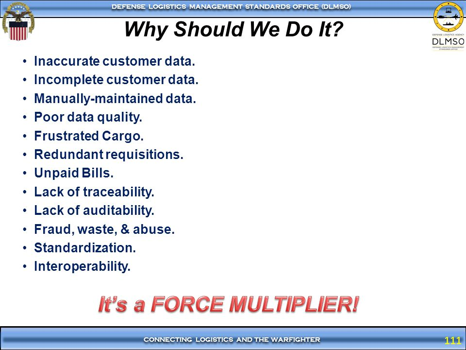 It's a FORCE MULTIPLIER!