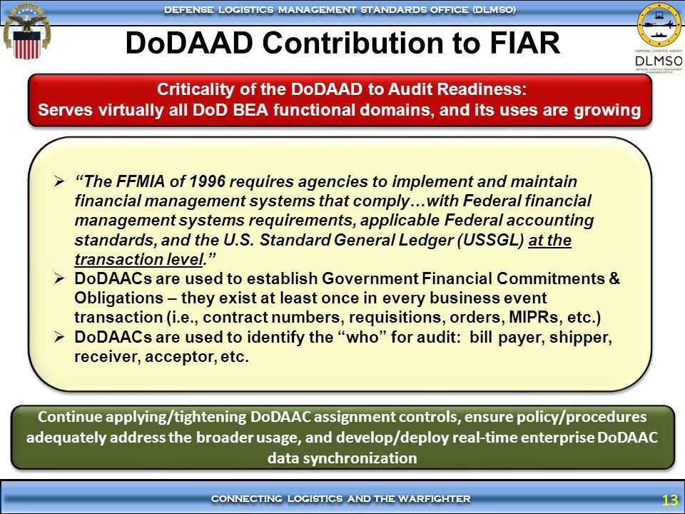 DoDAAD Contribution to FIAR