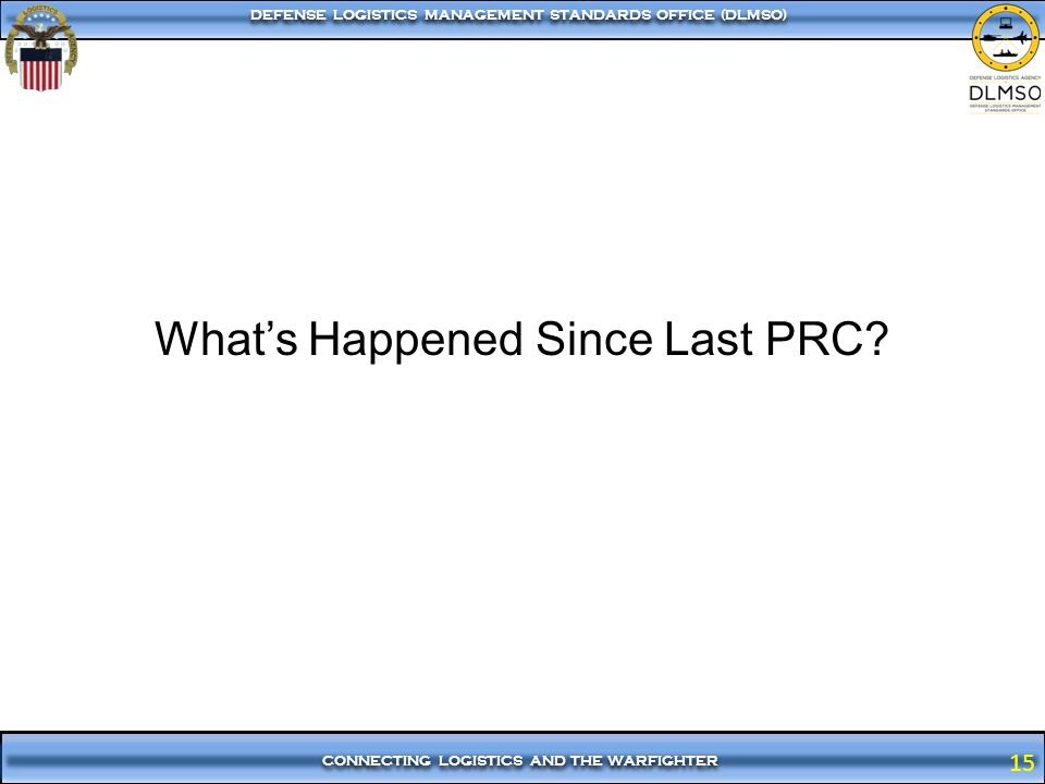 What's Happened Since Last PRC