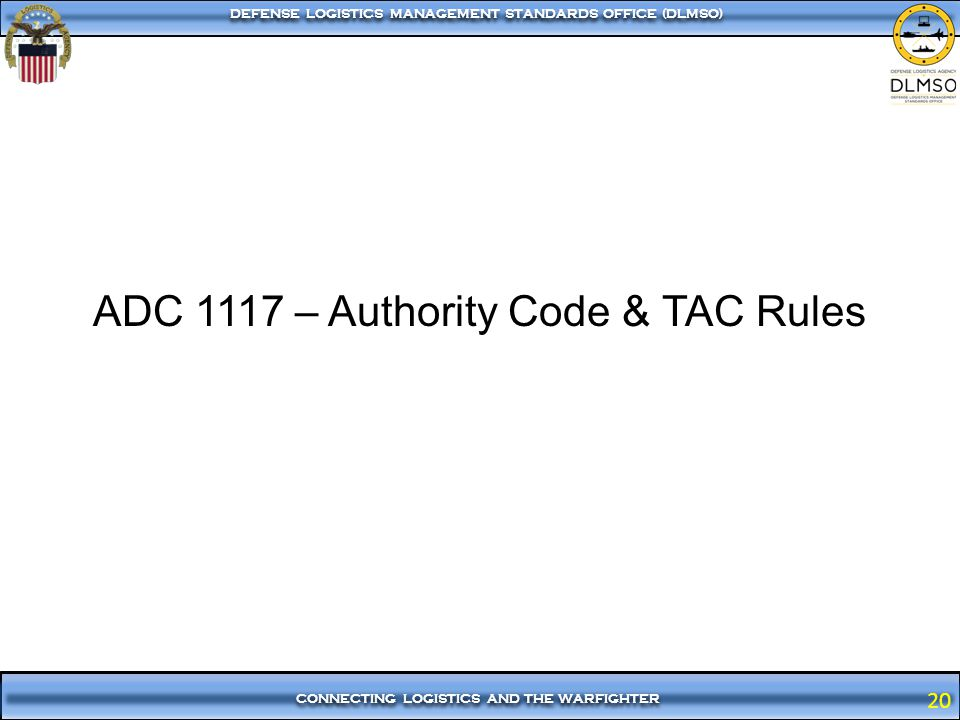 ADC 1117 – Authority Code & TAC Rules