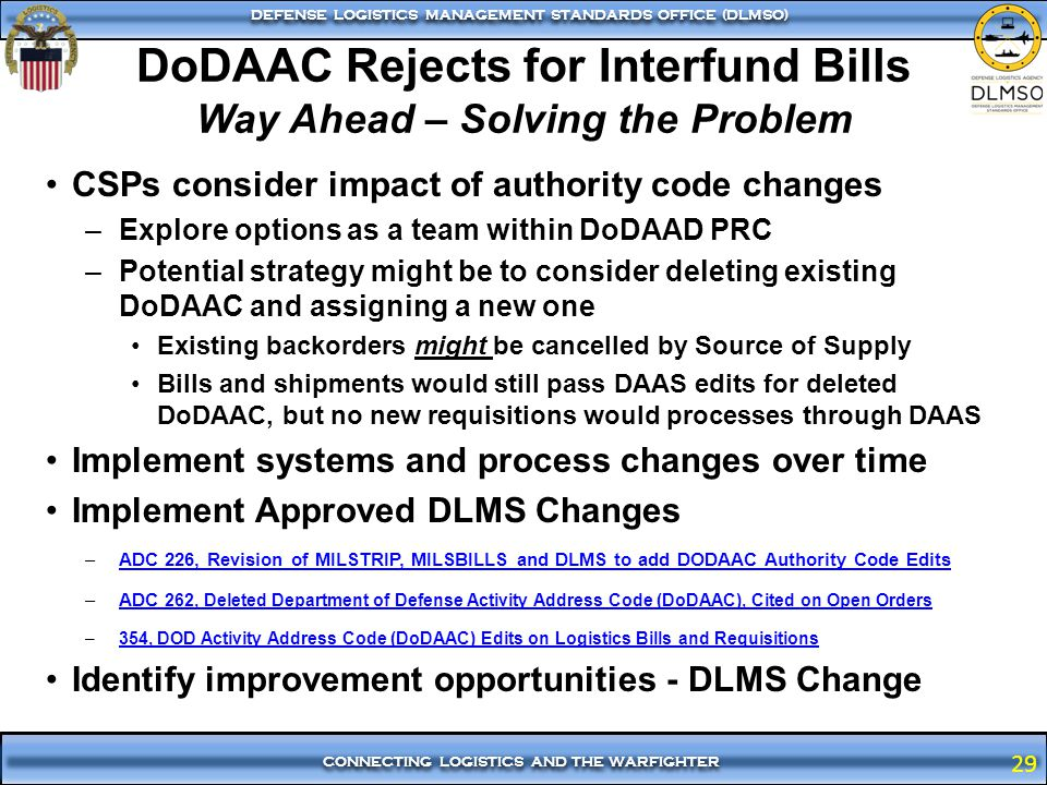 DoDAAC Rejects for Interfund Bills Way Ahead – Solving the Problem