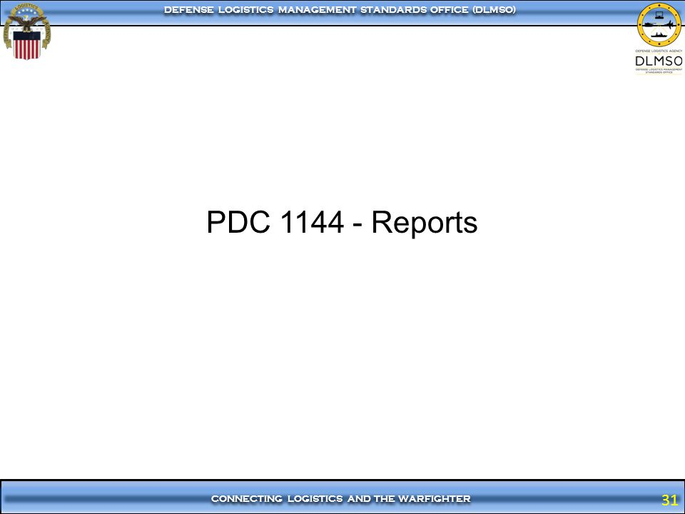PDC 1144 - Reports
