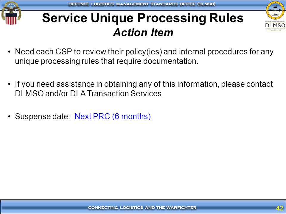 Service Unique Processing Rules