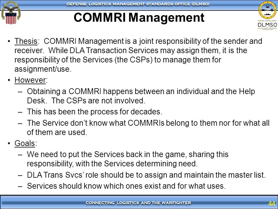 COMMRI Management
