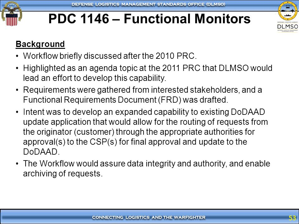 PDC 1146 – Functional Monitors