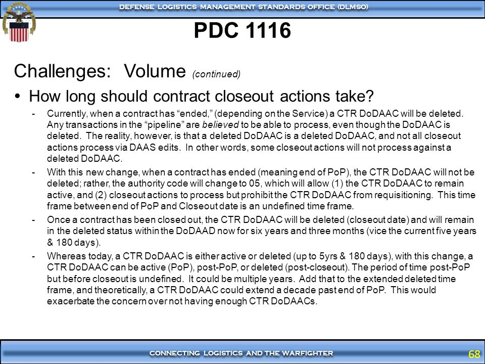 PDC 1116 Challenges: Volume (continued)