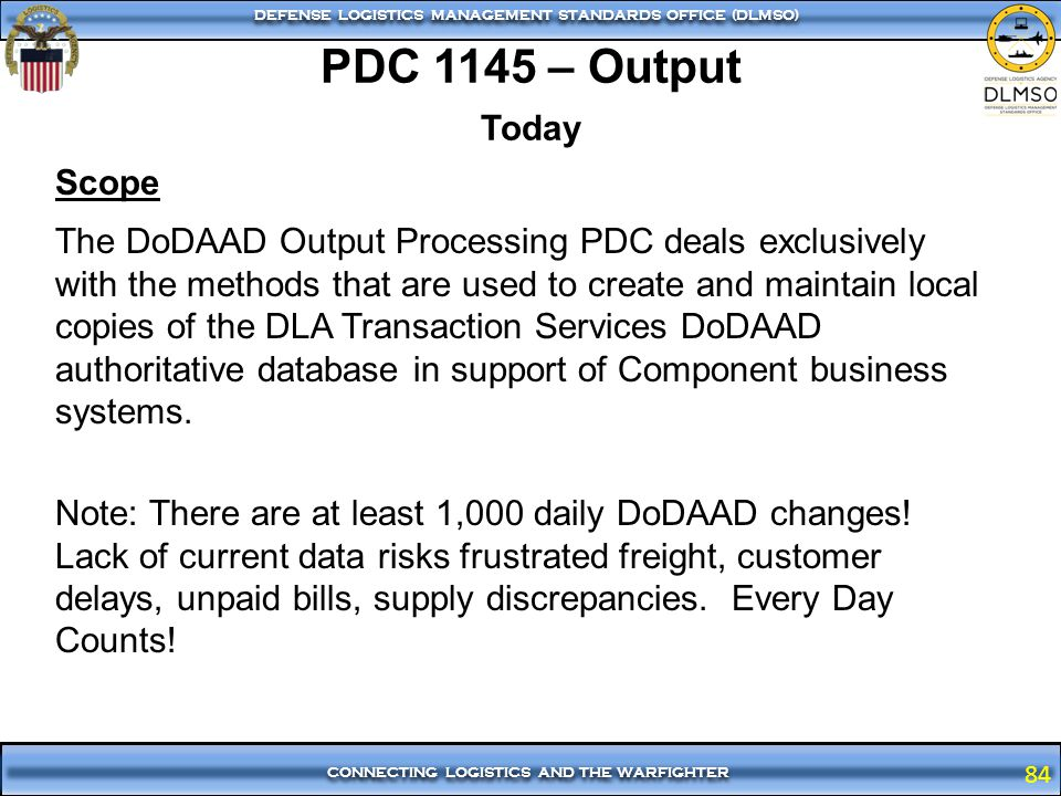 PDC 1145 – Output Today.