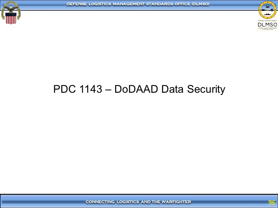 PDC 1143 – DoDAAD Data Security