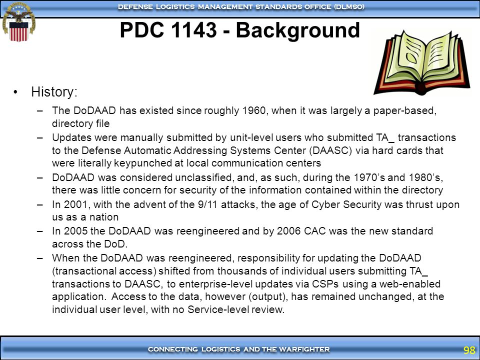 PDC 1143 - Background History: