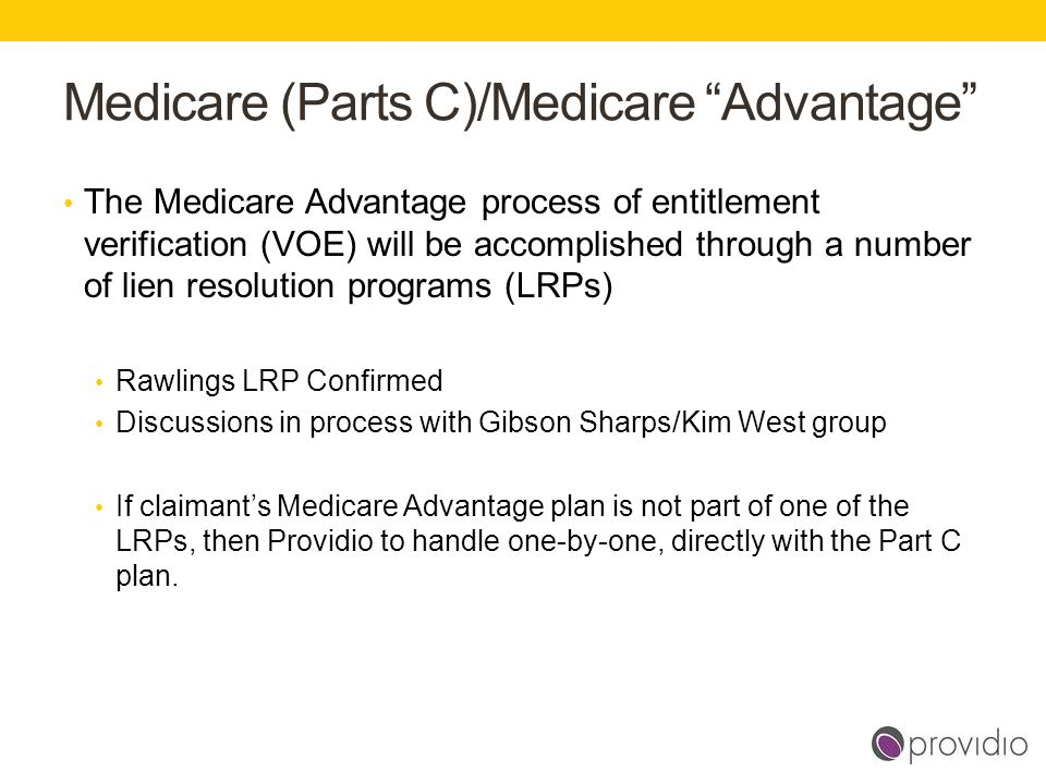 Medicare (Parts C)/Medicare Advantage
