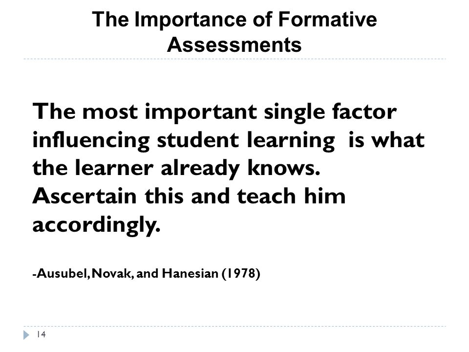 The Importance of Formative Assessments
