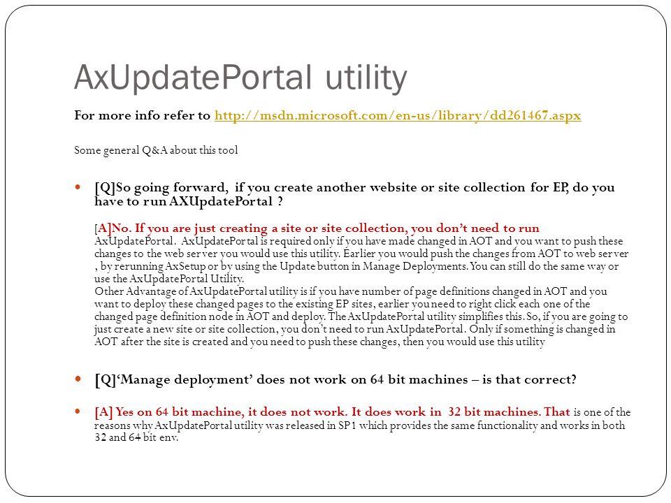 AxUpdatePortal utility