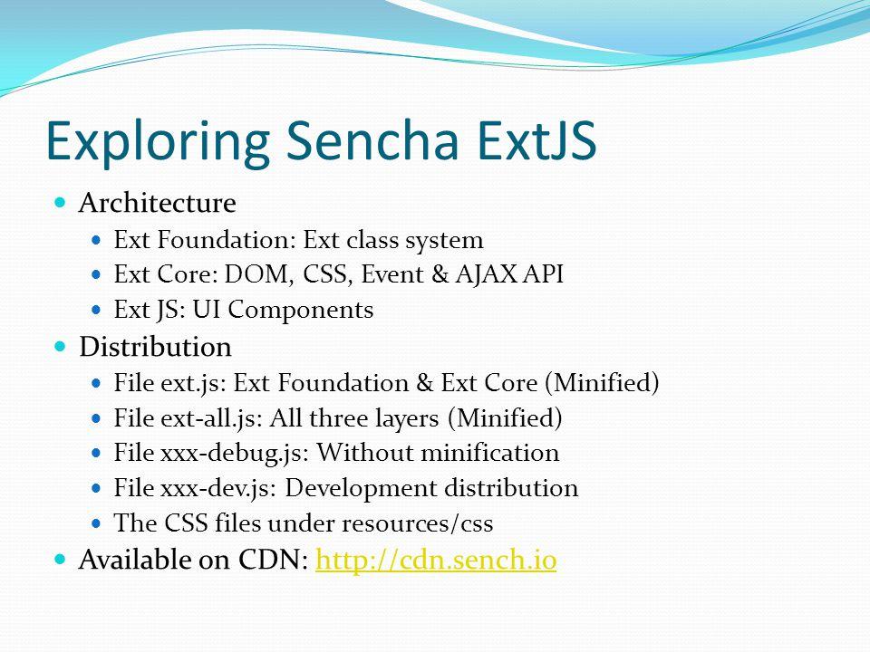 Exploring Sencha ExtJS