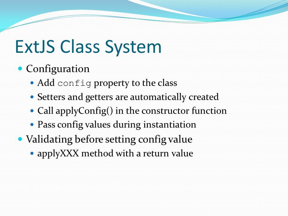 ExtJS Class System Configuration
