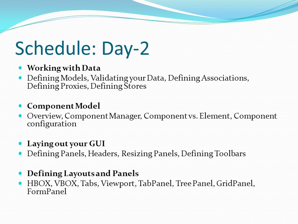 Schedule: Day-2 Working with Data