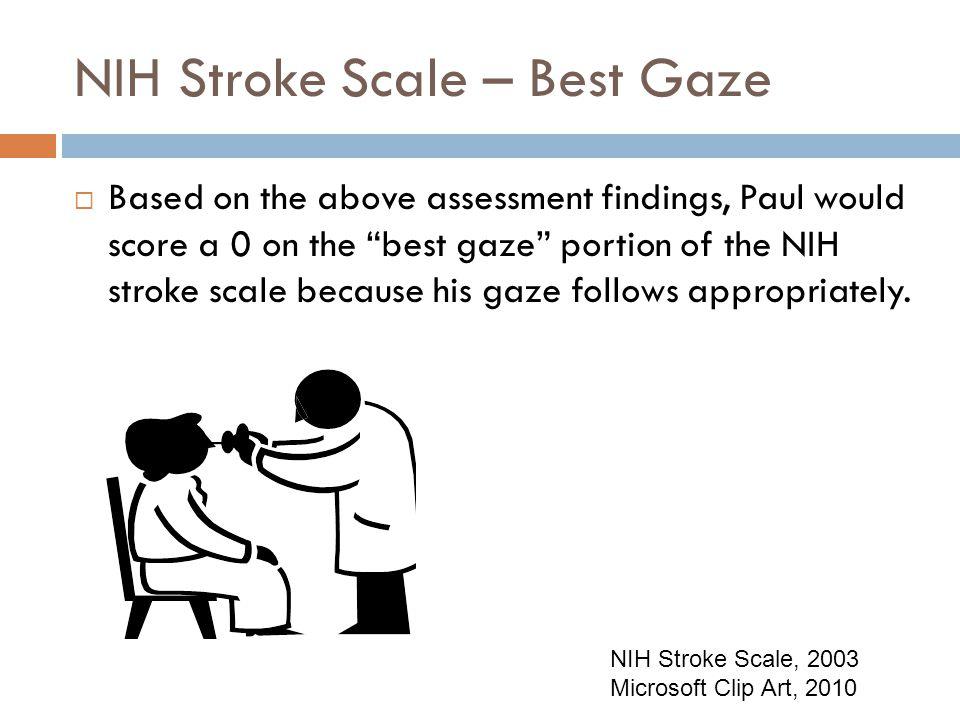NIH Stroke Scale – Best Gaze