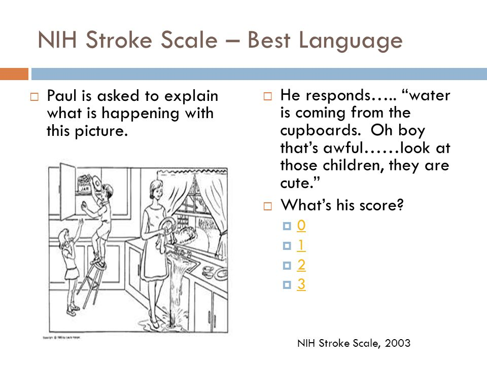 NIH Stroke Scale – Best Language