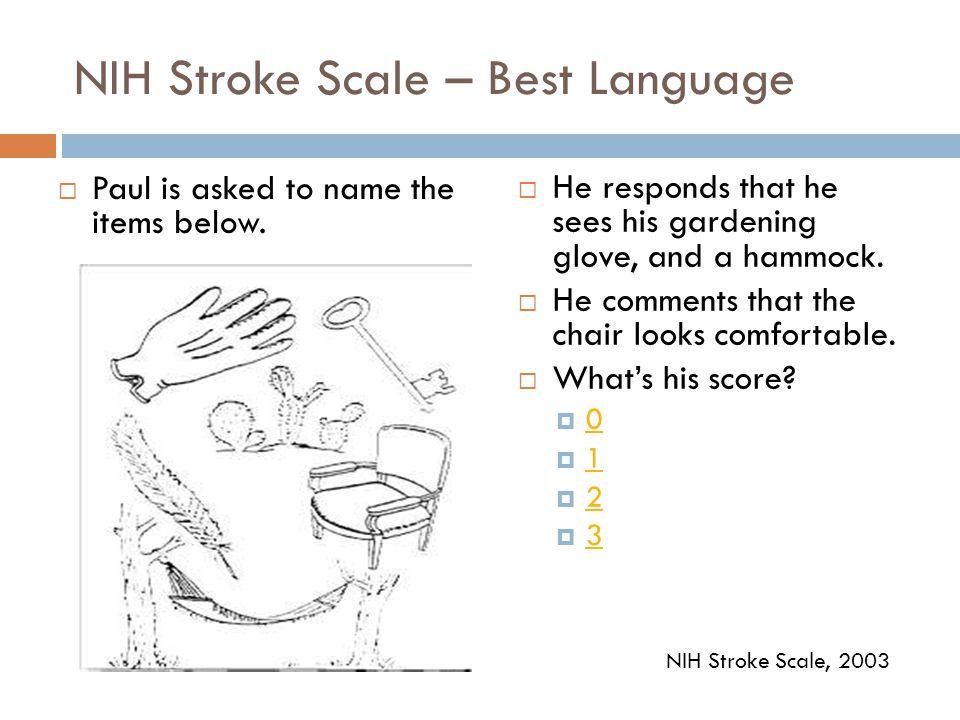 NIH Stroke Scale – Best Language