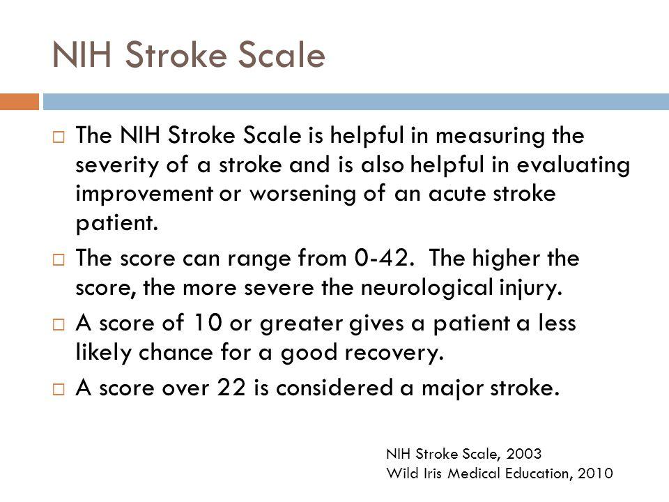 NIH Stroke Scale