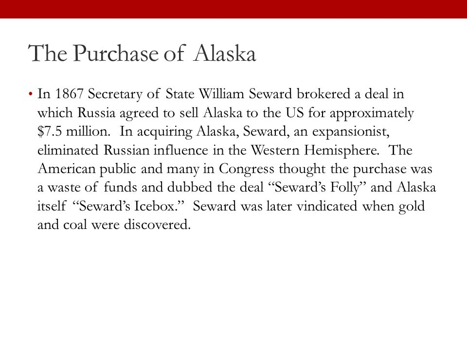 The Purchase of Alaska